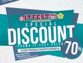 Diskon Spesial 70% IT Festival POLSRI 2018